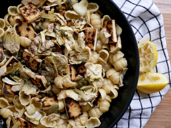 pasta with tofu &artichoke