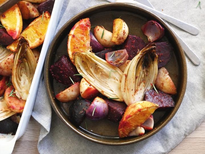 roasted beets & chiccory withorange